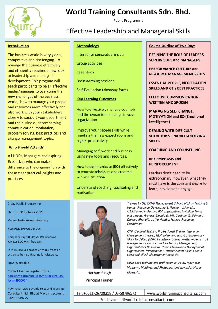 Effective leadership and managerial skills | World Training